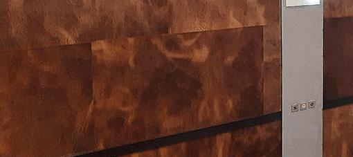 Leder Wandverkleidung für Aufzug