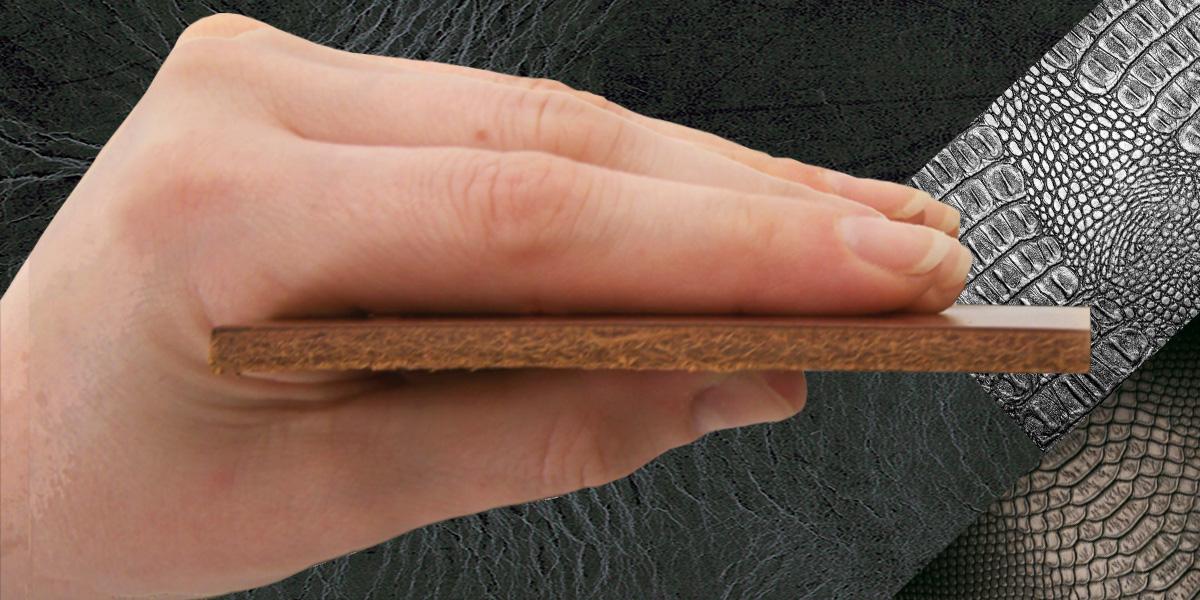 """Leder """"PUR"""" BUFFALO STRUCTURE in einer Stärke bis 3 mm"""