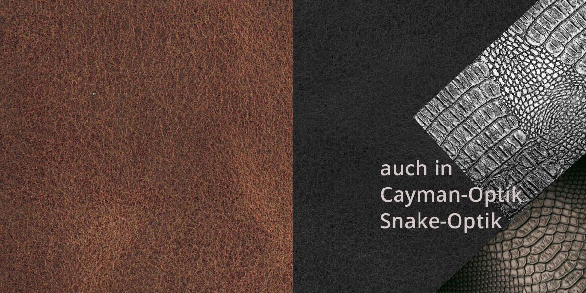 STYLE Haptik, auch in CAYMAN und SNAKE Prägung