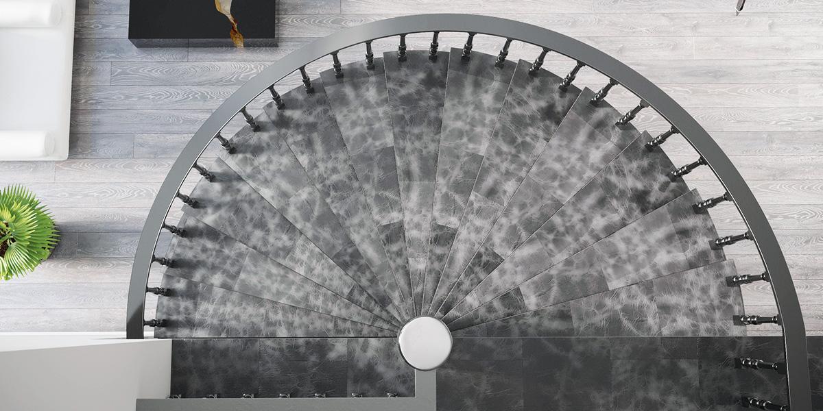 Stahltreppe mit DURABLE II Lederkollektion
