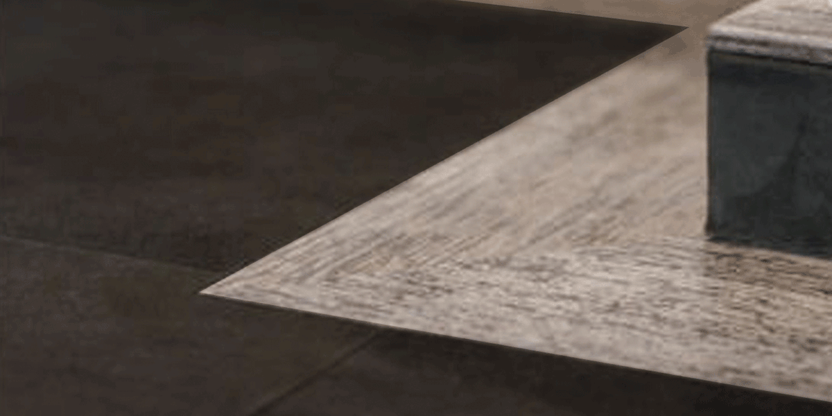 Kombination Velourleder Lederboden mit edlem Holz