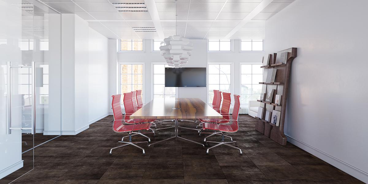 Büro mit Lederboden